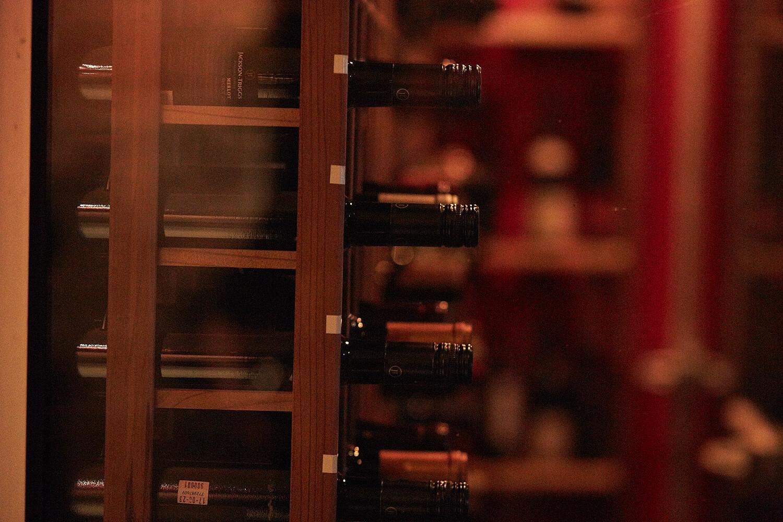 Bar à vin - verre & bouteille